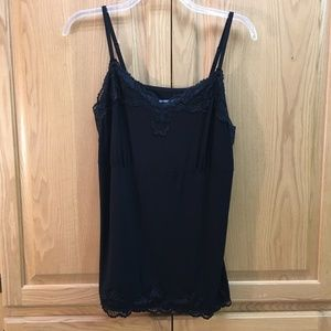 Lane Bryant black camisole with lace detail - NWT